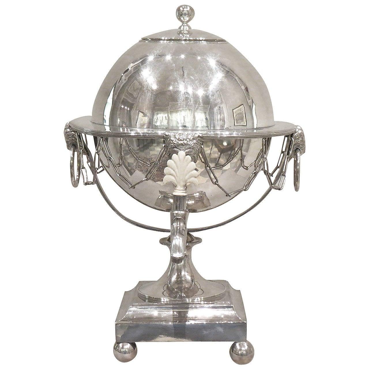 Neoclassical Sheffield Plate Atlas Tea Urn