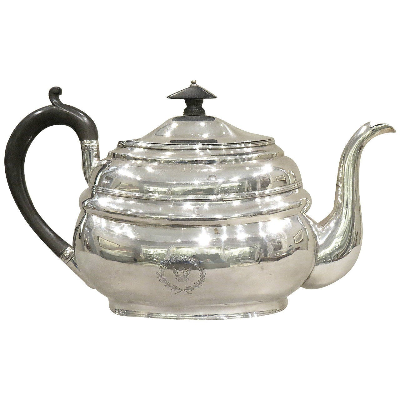 Early 19th Century Antique Sterling 925 Silver Irish Teapot