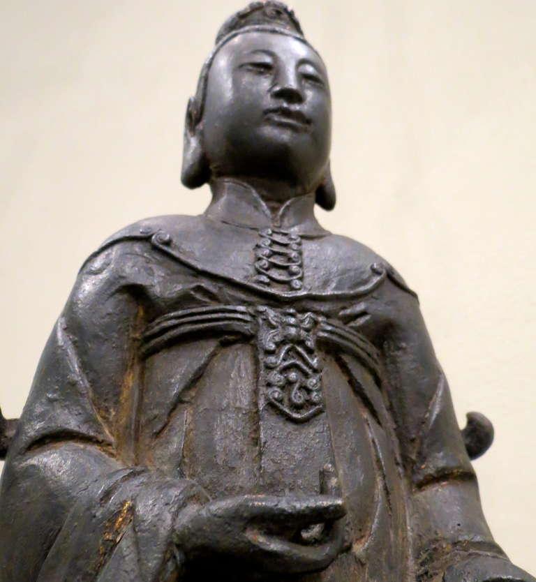 Fine Vietnamese Cast Bronze Taoist Ancestor Statue At 1stdibs