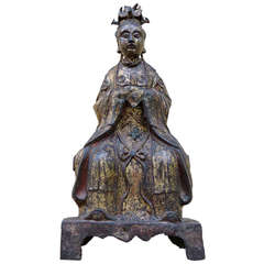 Gilt Bronze Figure of Xi-Wang-Mu, Qing Dynasty, Qianlong Kingdom