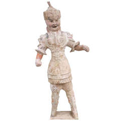 Chinese Tang Dynasty Ceramic Figure of a Military Officer