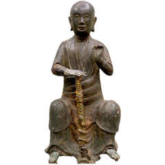Bronze Figure of a Seated Luohan, Ming Dynasty, 1368-1644