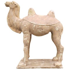 Chinese Painted and Glazed Pottery Sui Dynasty Camel