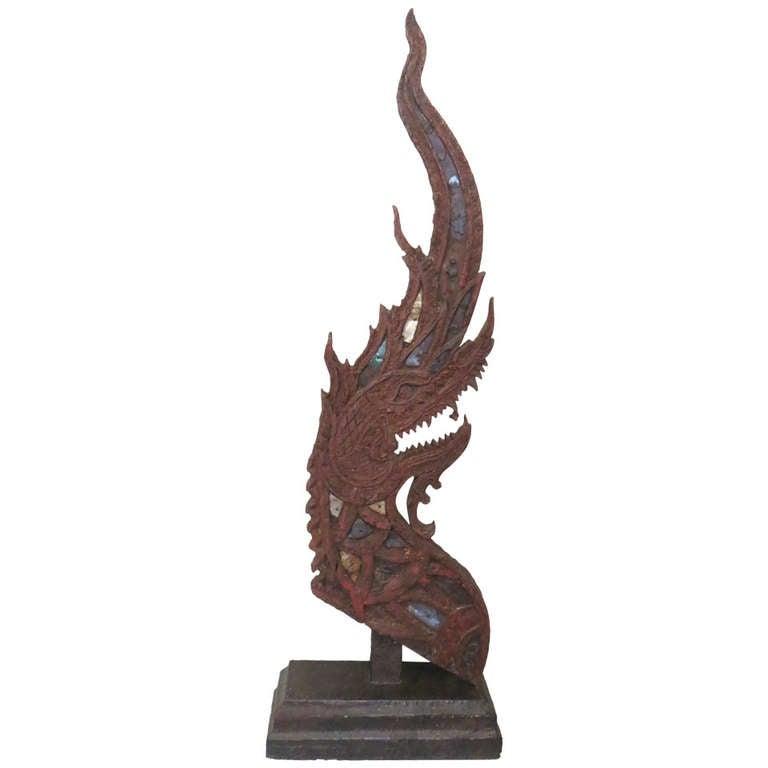 Large Sculptural Thai Naga
