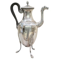 French First Empire Silver Coffee Pot, 1810