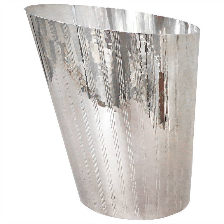 Silver Plated Hand-Hammered Champagne Bucket
