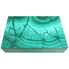 Italian Malachite Box, circa 1970s