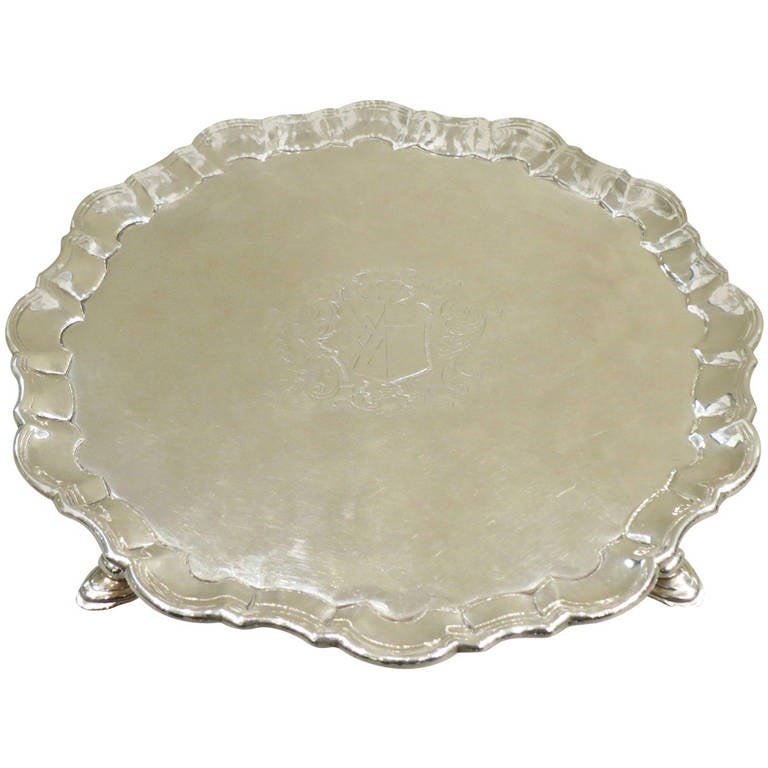 George II Silver Salver, London, 1735 For Sale