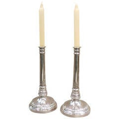 Pair of Silver Candlesticks, Germany, circa 1790