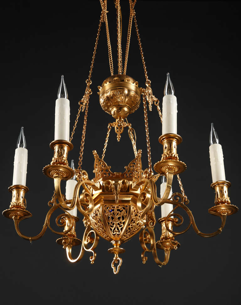 Asian style chandelier lamps