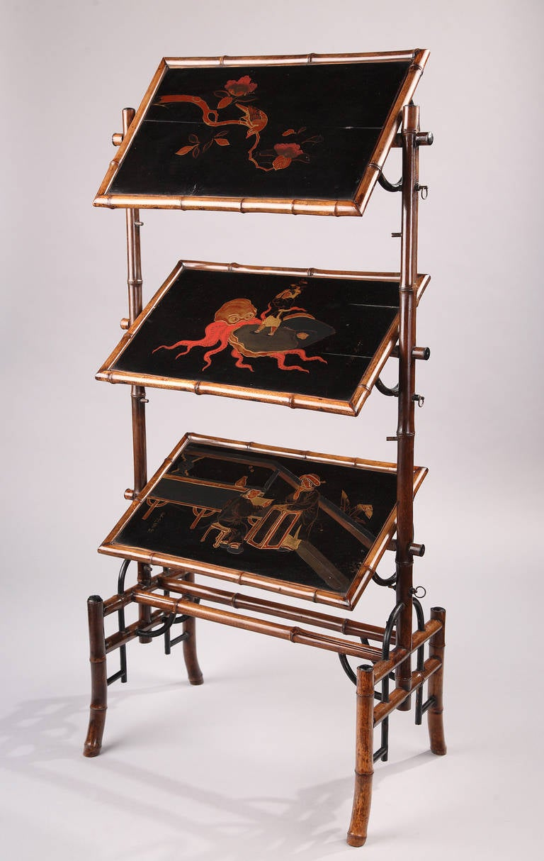 French japanese lacquer etagere table at 1stdibs for Etagere japonaise