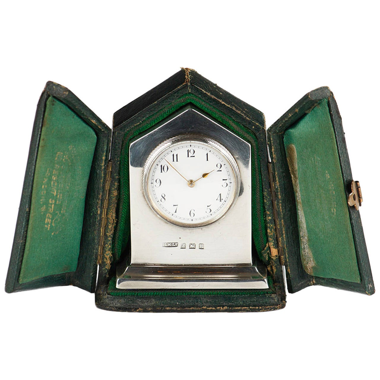 Early 20th Silver Carriage Clock in its Case at 1stdibs
