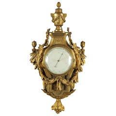 Rare 19th Century Louis XVI Style Barometer