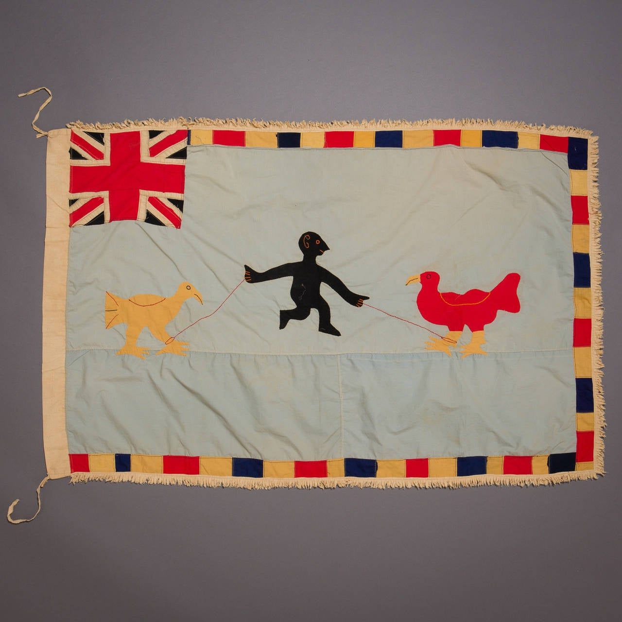 A large and graphically stunning asafo flag.
