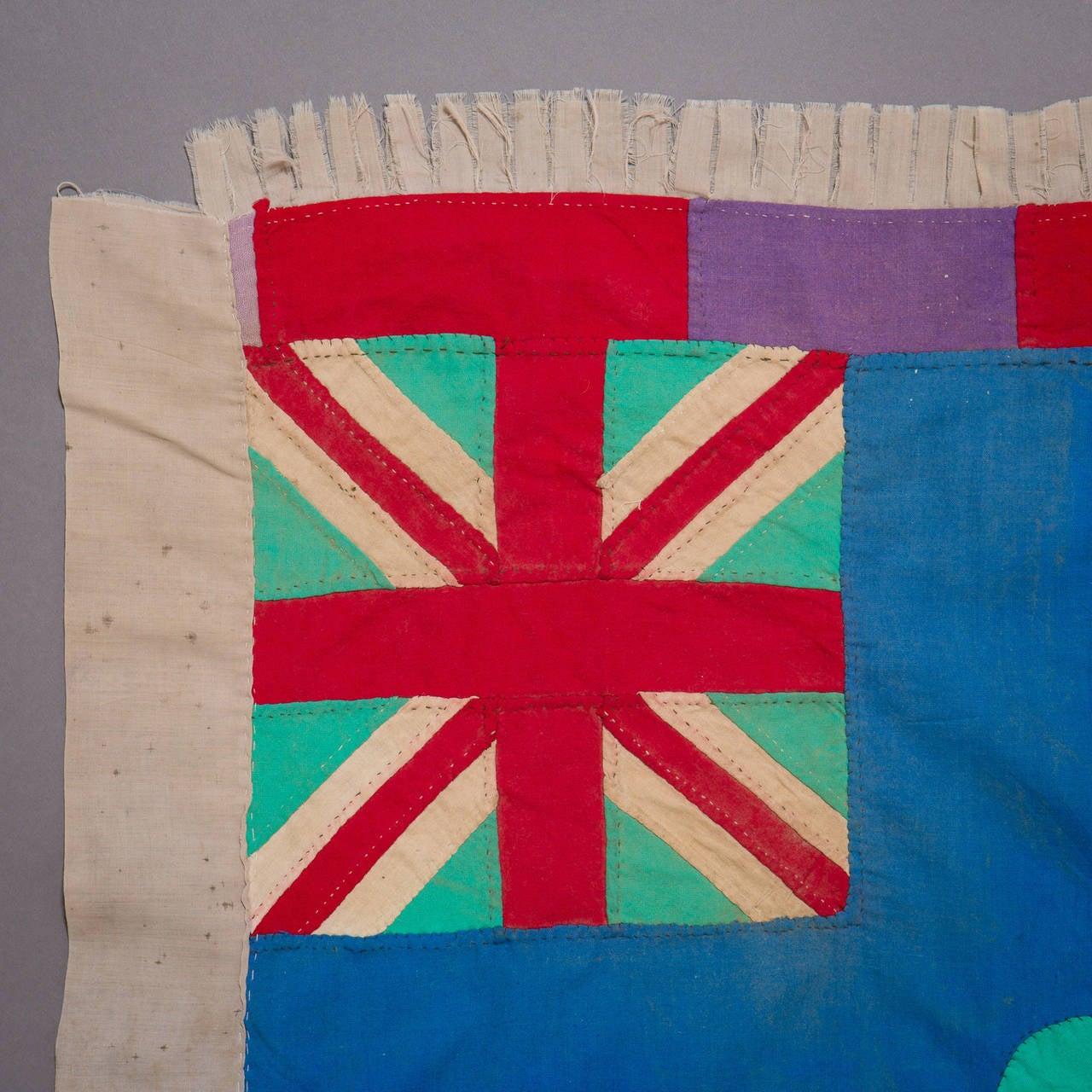 Ghanaian Mid-20th Century Fante Asafo Flag, Ghana For Sale