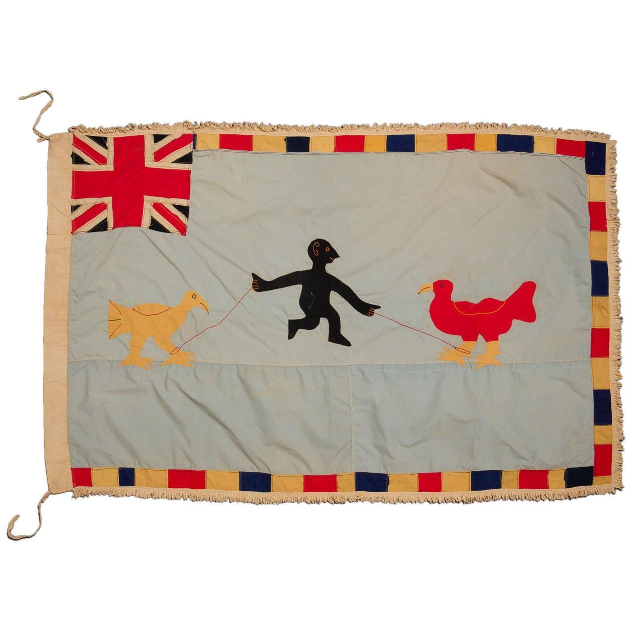 Mid-20th Century Fante Asafo Flag, Ghana