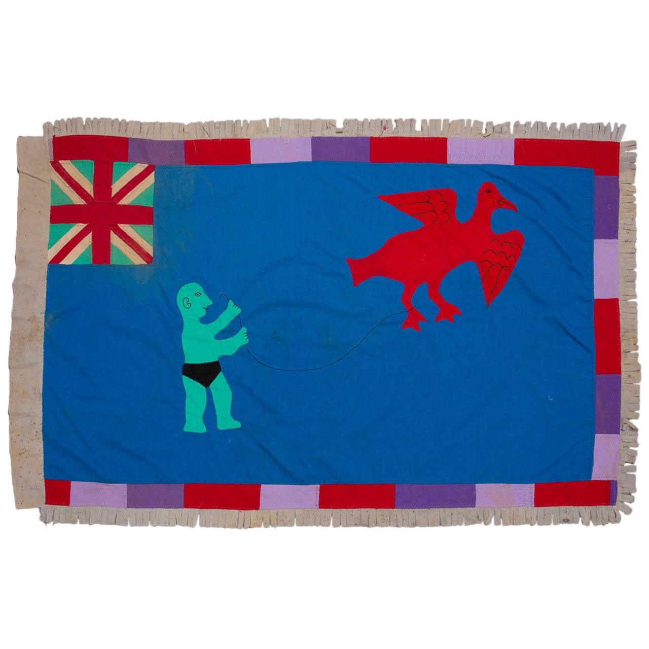 Mid-20th Century Fante Asafo Flag, Ghana For Sale