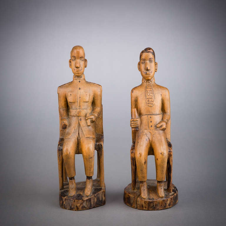 Mozambican African Colonial Folk Art Figures For Sale