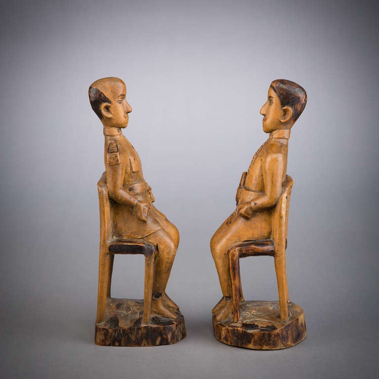 African Colonial Folk Art Figures In Good Condition For Sale In New York, NY