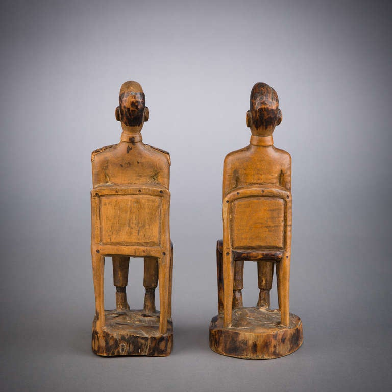 19th Century African Colonial Folk Art Figures For Sale