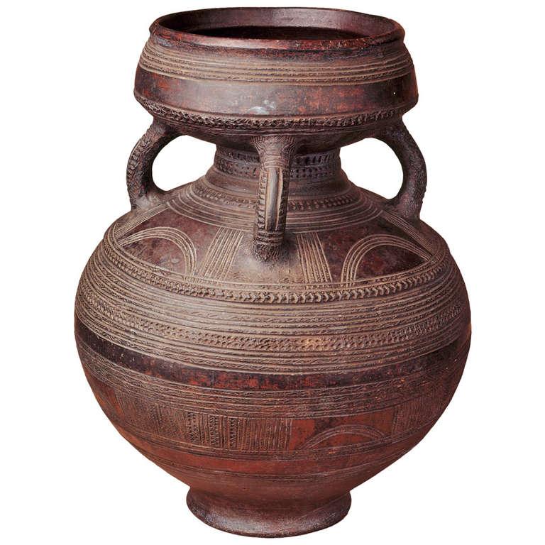 Magnificent African Ceramic Pot, Nigeria at 1stdibs