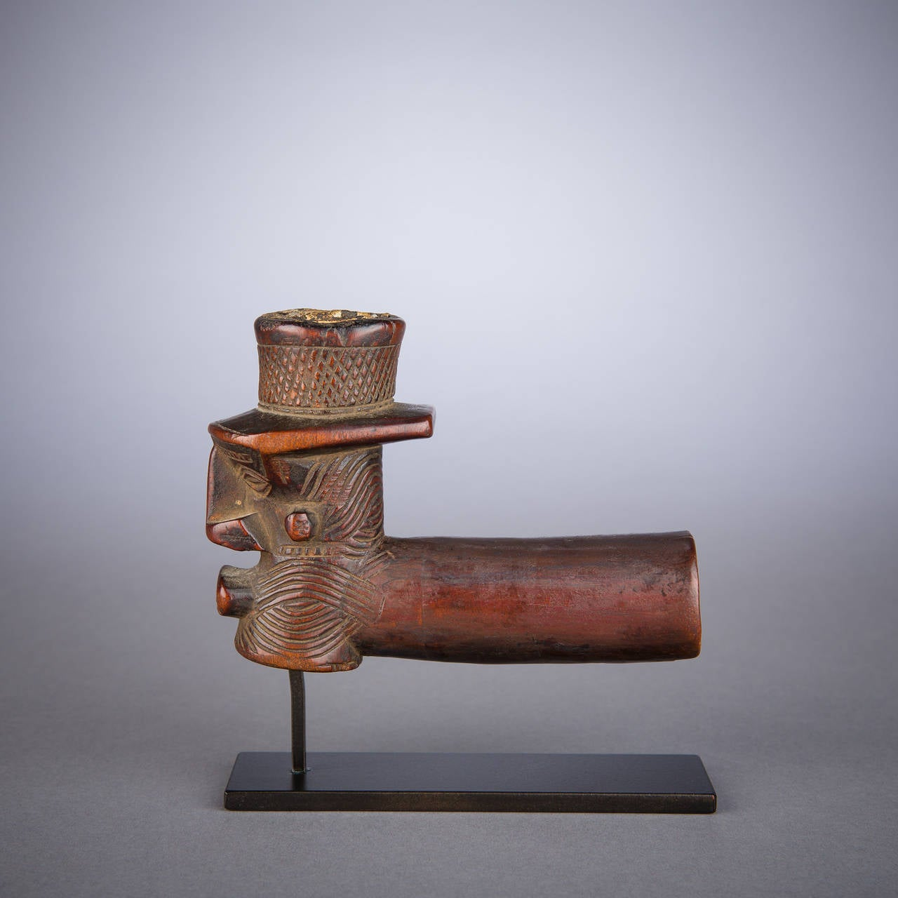 Early 20th Century Tribal Kuba or Binji Pipe, D.R. Congo In Good Condition For Sale In New York, NY