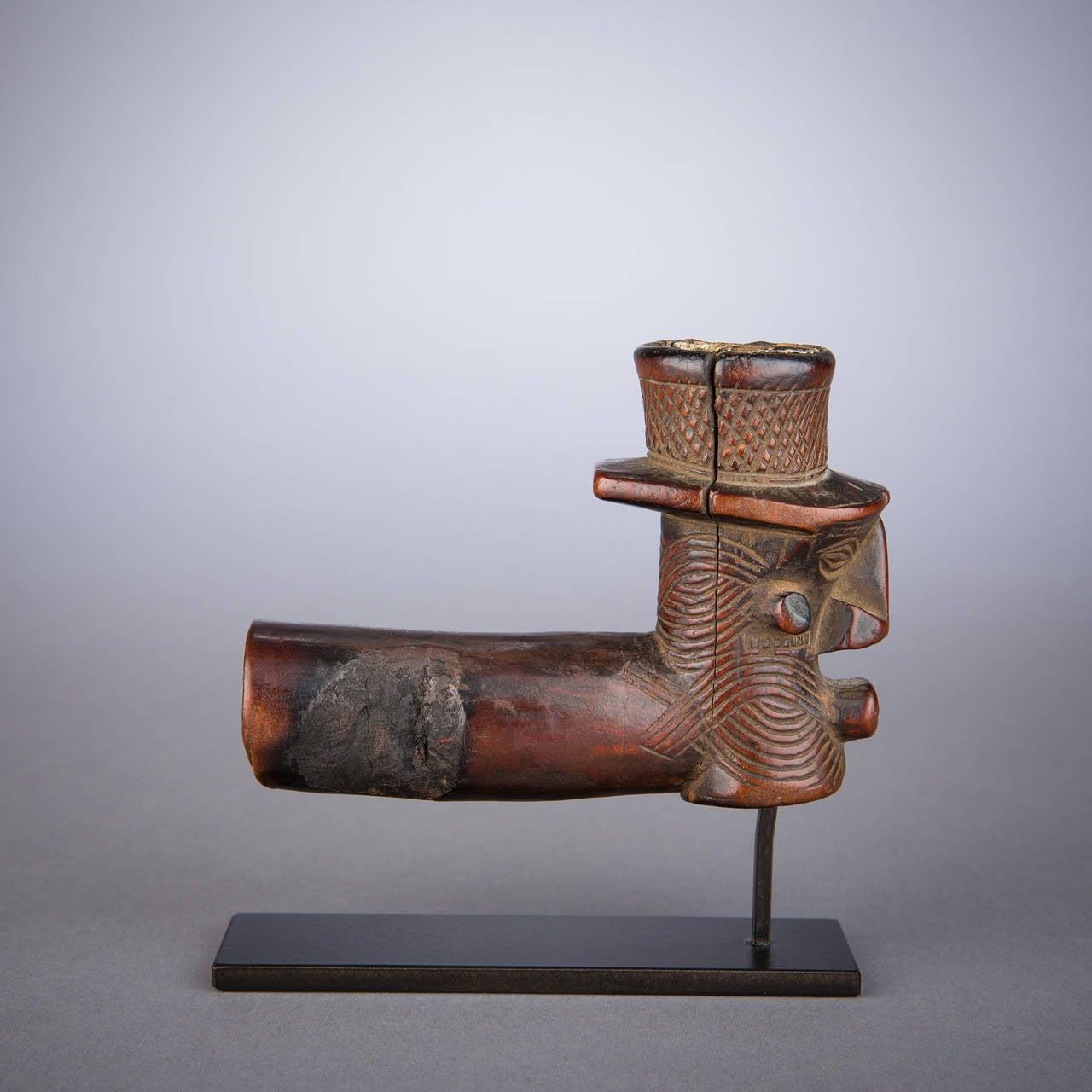 Congolese Early 20th Century Tribal Kuba or Binji Pipe, D.R. Congo For Sale