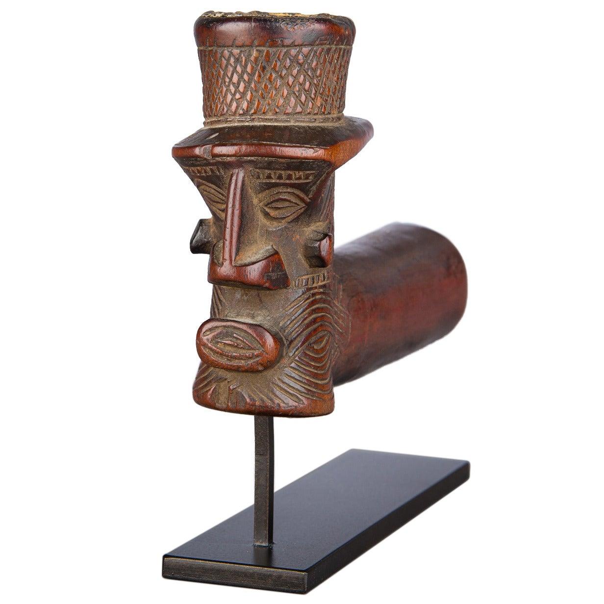 Early 20th Century Tribal Kuba or Binji Pipe, D.R. Congo