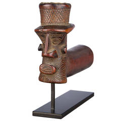 Early 20th Century Tribal Kuba or Binji Pipe, D.R. Congo