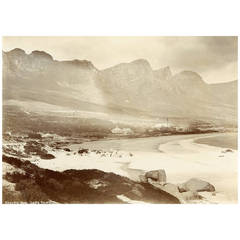19th Century Original Photograph of Camps Bay, South Africa