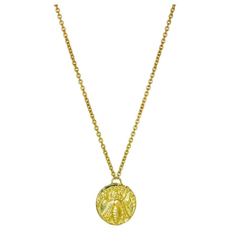 Melissae 18 Karat Yellow Gold Bee Necklace