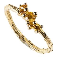 Milena Kovanovic Yellow Diamond 18 Karat Gold Engagement Ring