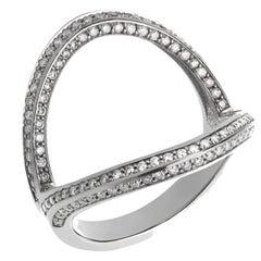 Zara Simon Ibiza Diamond Pave White Gold Ring