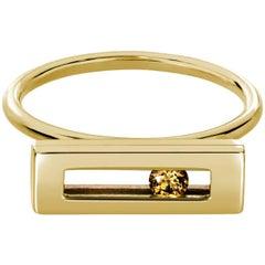 Luke Rose Yellow Gold Champagne Diamond Ring
