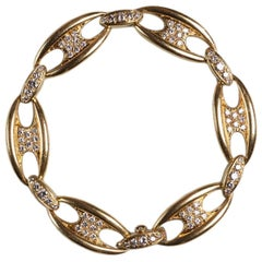 Mauboussin Diamond Gold Chain Bangle Bracelet, circa 1965