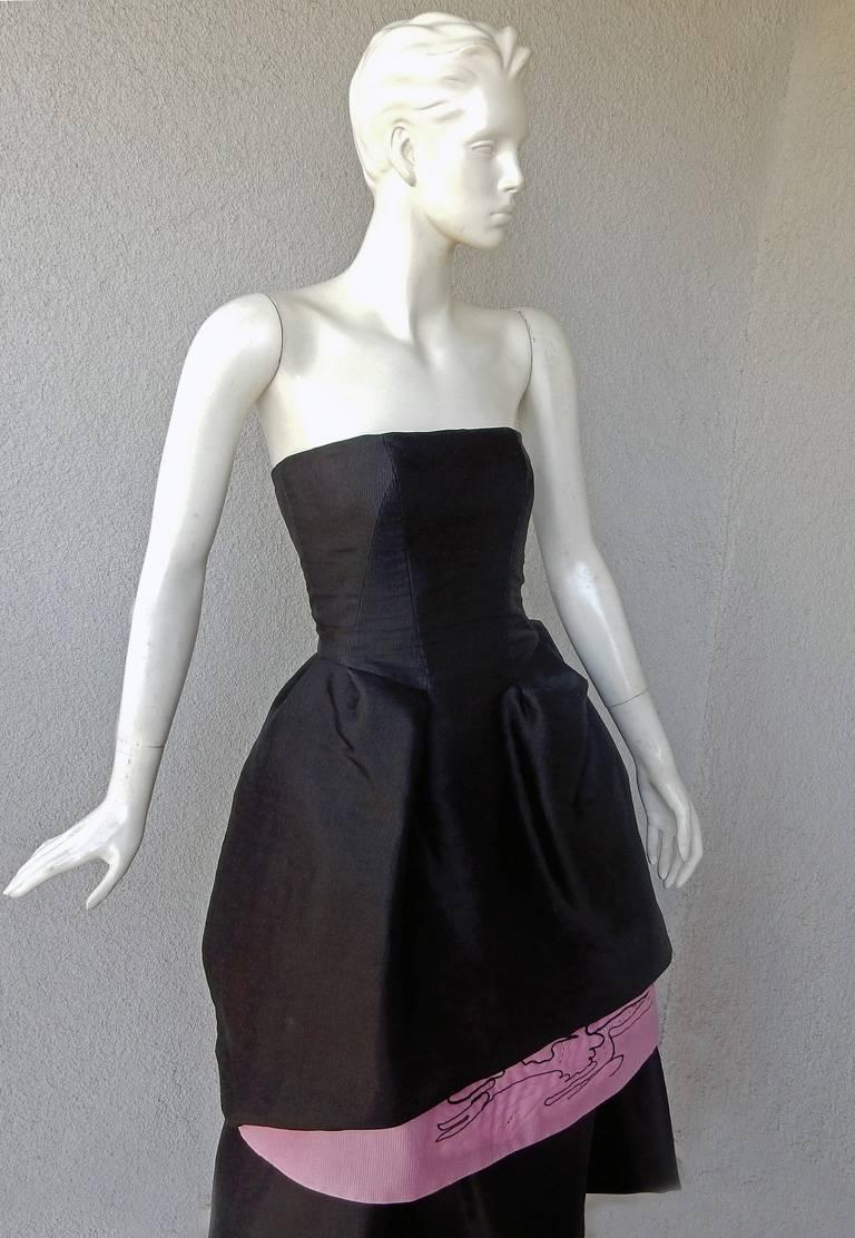 Christian Lacroix Runway 2-in-1 Detachable Pouf Petal Dress Gown  In Excellent Condition For Sale In Los Angeles, CA