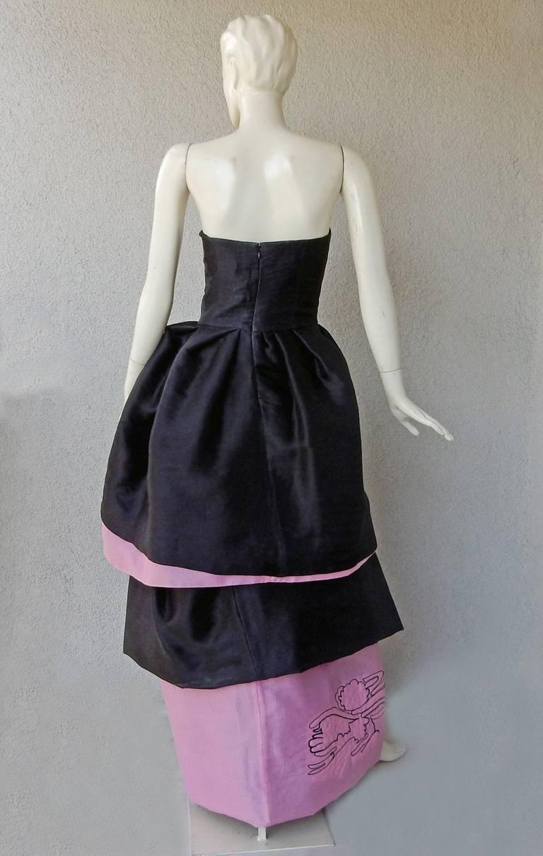 Christian Lacroix Runway 2-in-1 Detachable Pouf Petal Dress Gown  For Sale 1