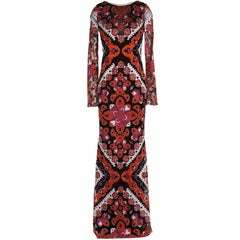 Emilio Pucci Printed Devore Gown