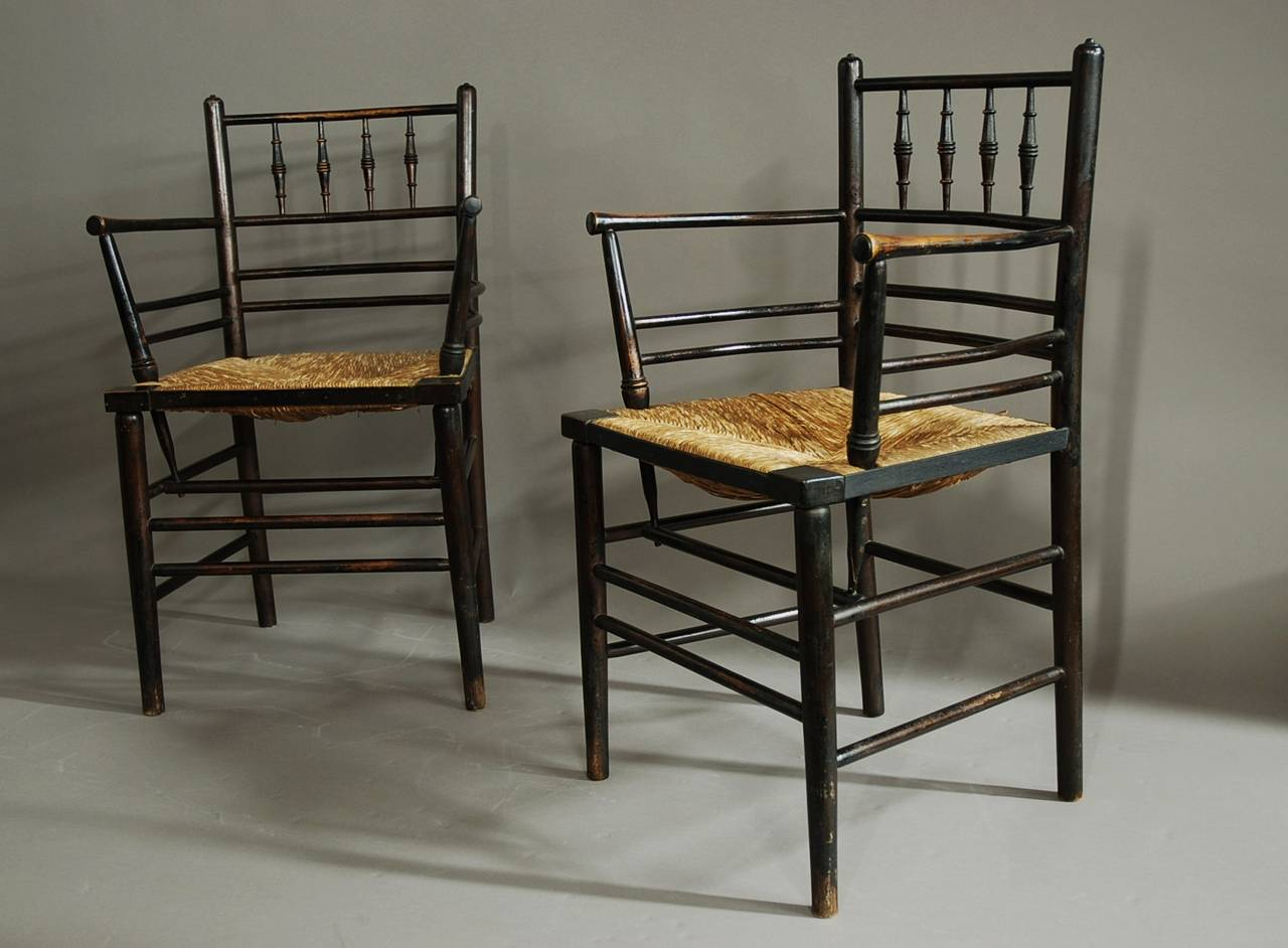Set Of Six Morris And Co Sussex Chairs At Stdibs - William morris chairs