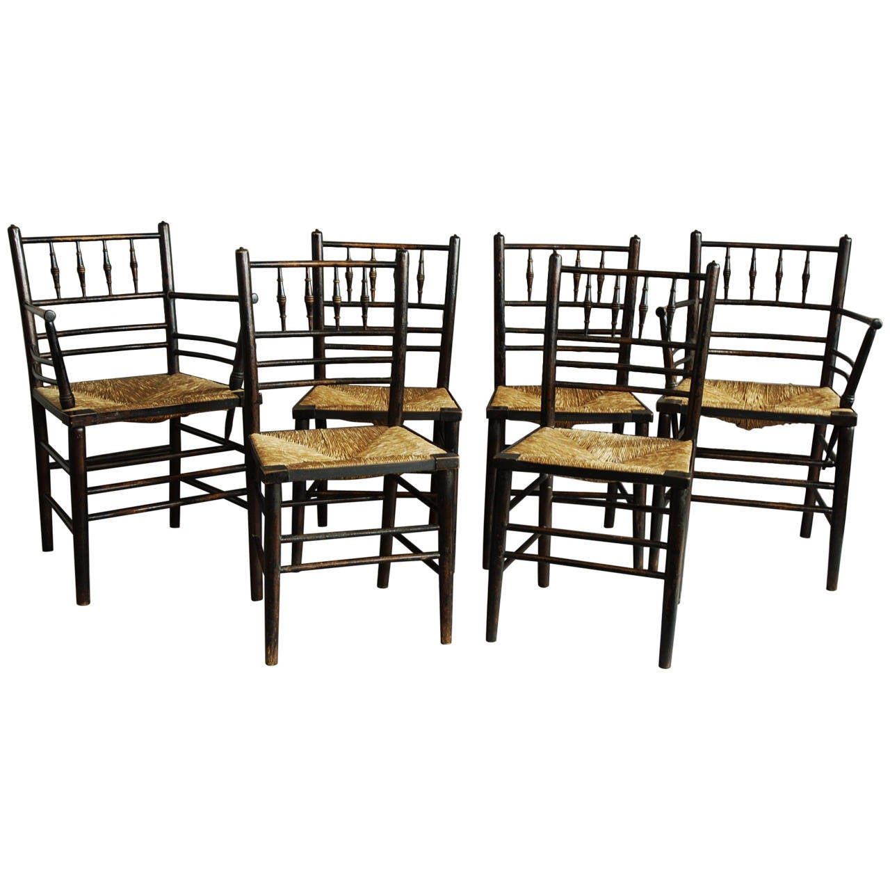 Set Of Six Morris And Co. Sussex Chairs At 1stdibs