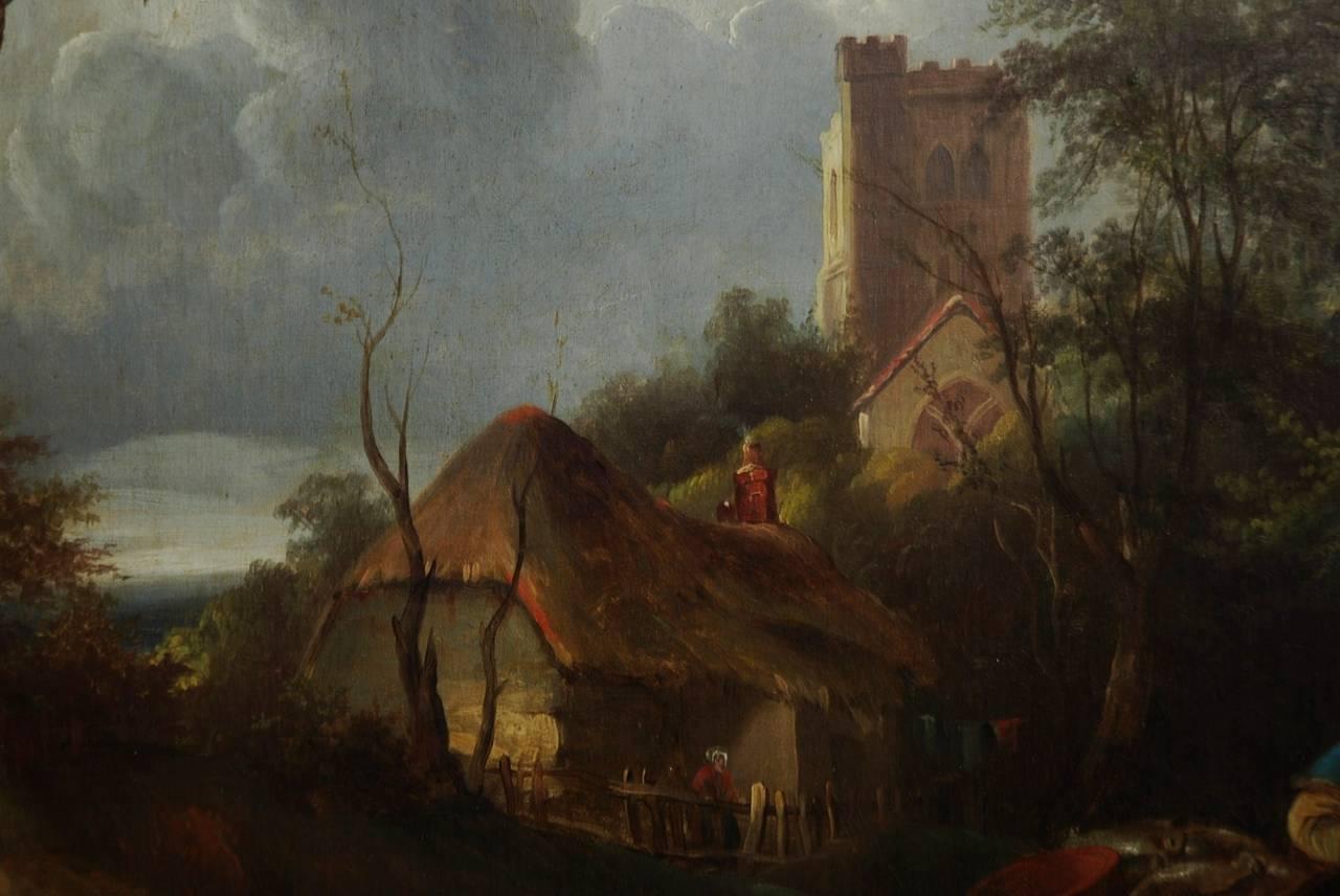 The Rabbit Seller Oil On Canvas At 1stdibs