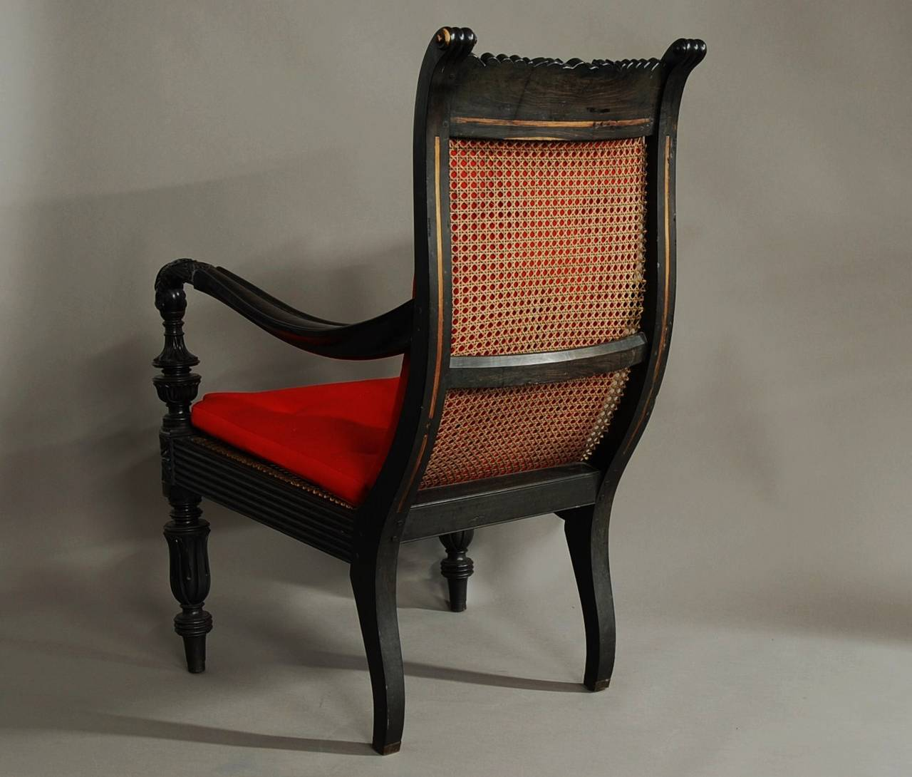 Carved solid ebony easy chair from the galle district at for District 8 furniture