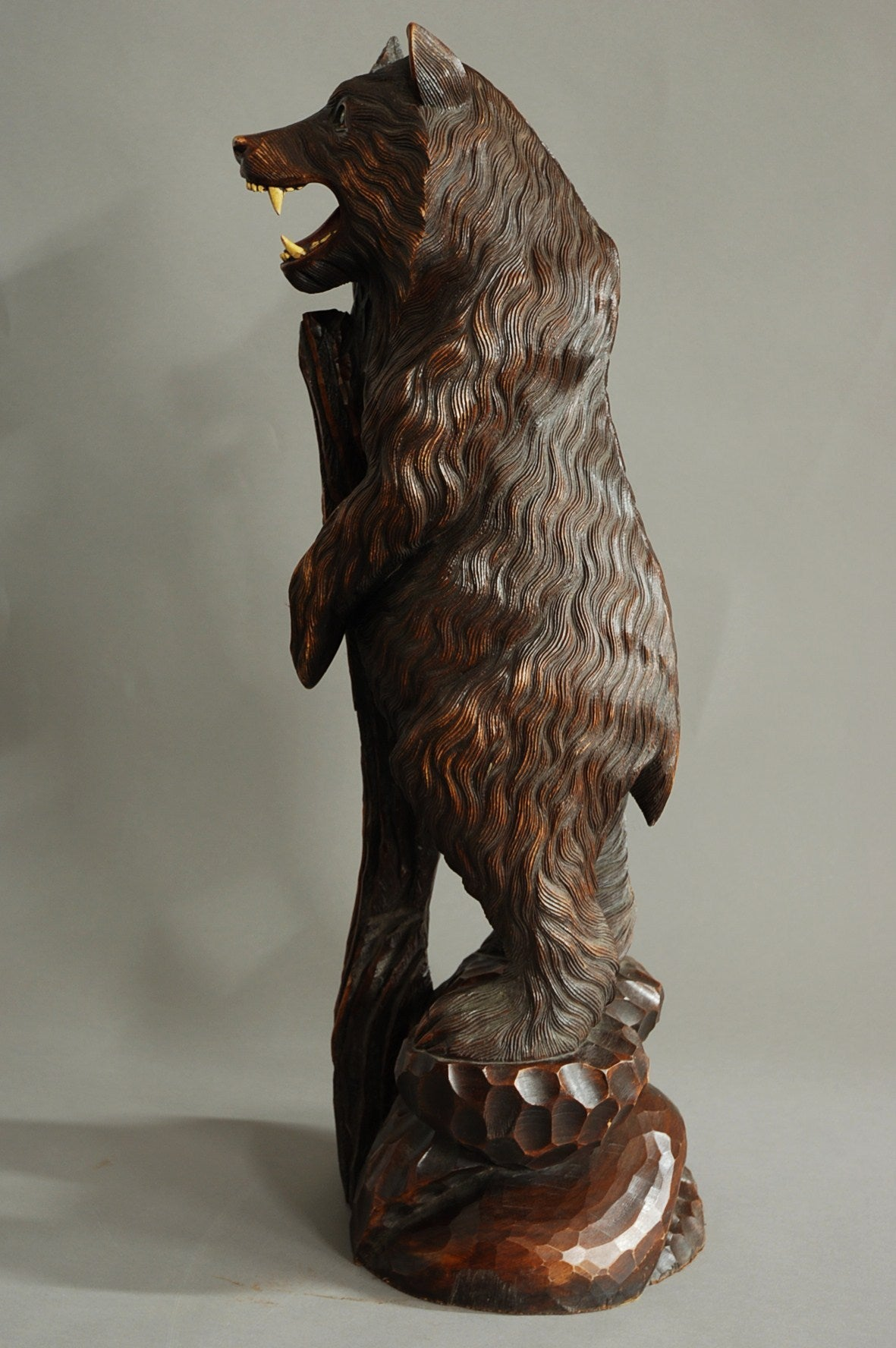 Finely carved wooden black forest bear at stdibs