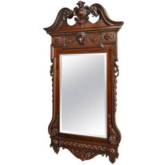 Fine Quality Mahogany Pier Mirror in the William Kent Style