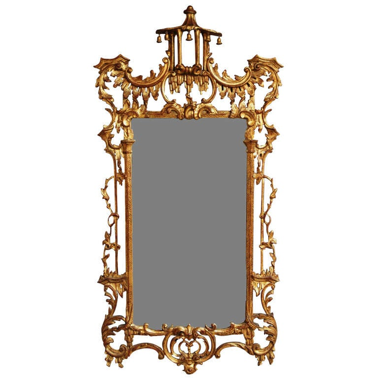Early 20th century chinese chippendale style mirror at 1stdibs for Asian style mirror
