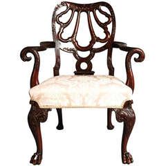 Mahogany Open Armchair, circa 1900