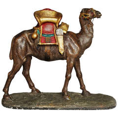 Late 19th Century Painted Plaster Camel