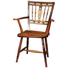 Early 19th Century Fruitwood Mendlesham Chair