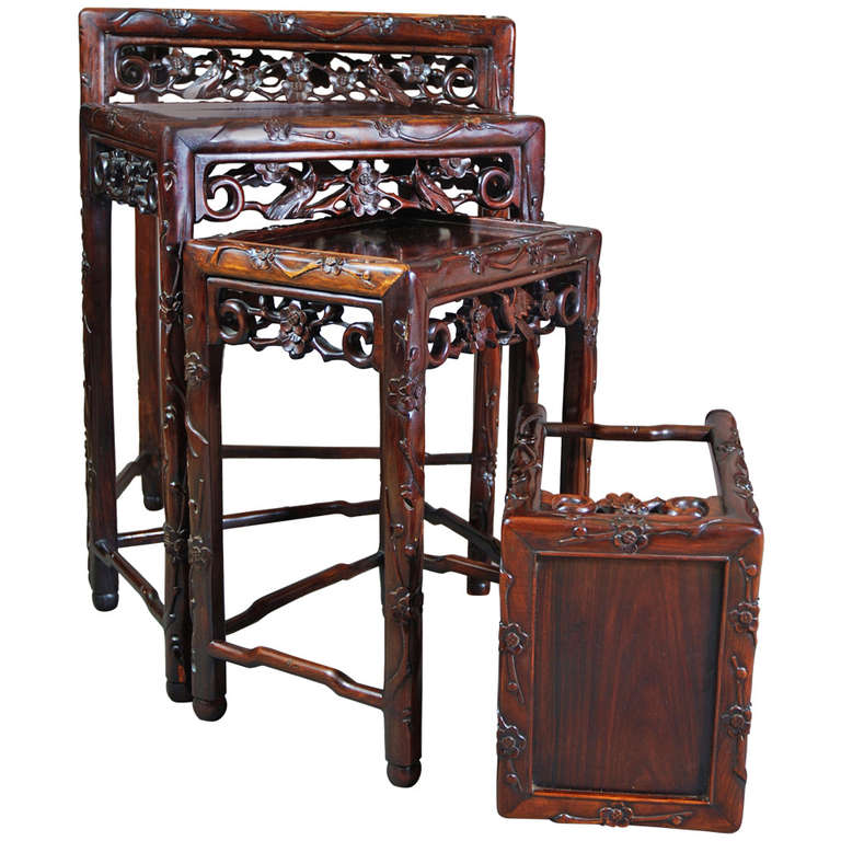Nest Of Chinese Hardwood Tables At 1stdibs