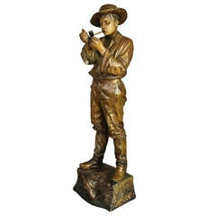 Goldscheider Bronzed Slip Cast Figure of Gaucho
